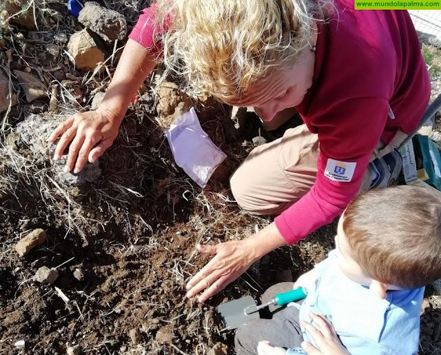 La Escuela Infantil de Tijarafe desarrolla el programa de recuperación de especies de flora autóctona junto a sus alumnos