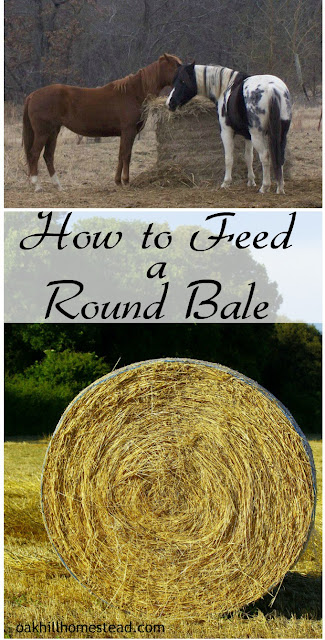 How to feed a round bale to reduce waste.