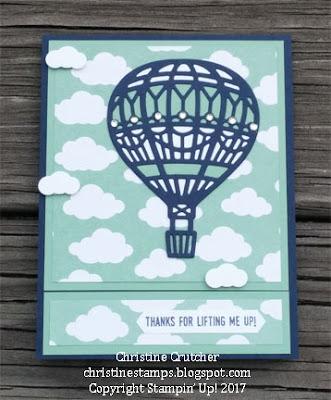 Stampin Up Lift Me Up Bundle & Carried Away Designer Series Paper