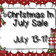 Christmas in July Sale!!