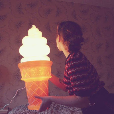 Oversized Icecream Cone Lamp
