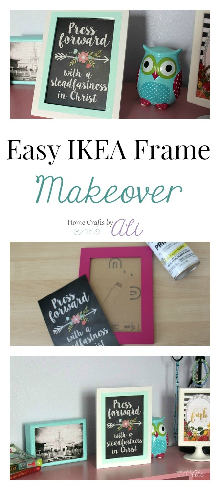thrift store upcycle project update picture frame with spray paint how to