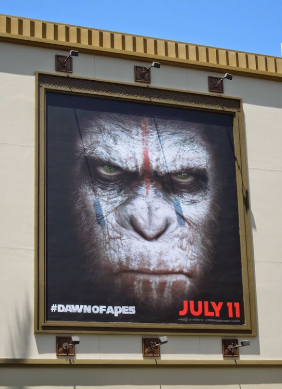 Dawn of the Planet of the Apes full chimp face billboard