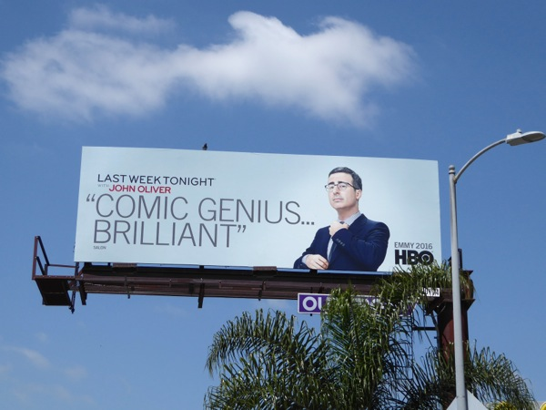 Last Week Tonight John Oliver 3 HBO Emmy 2016 billboard