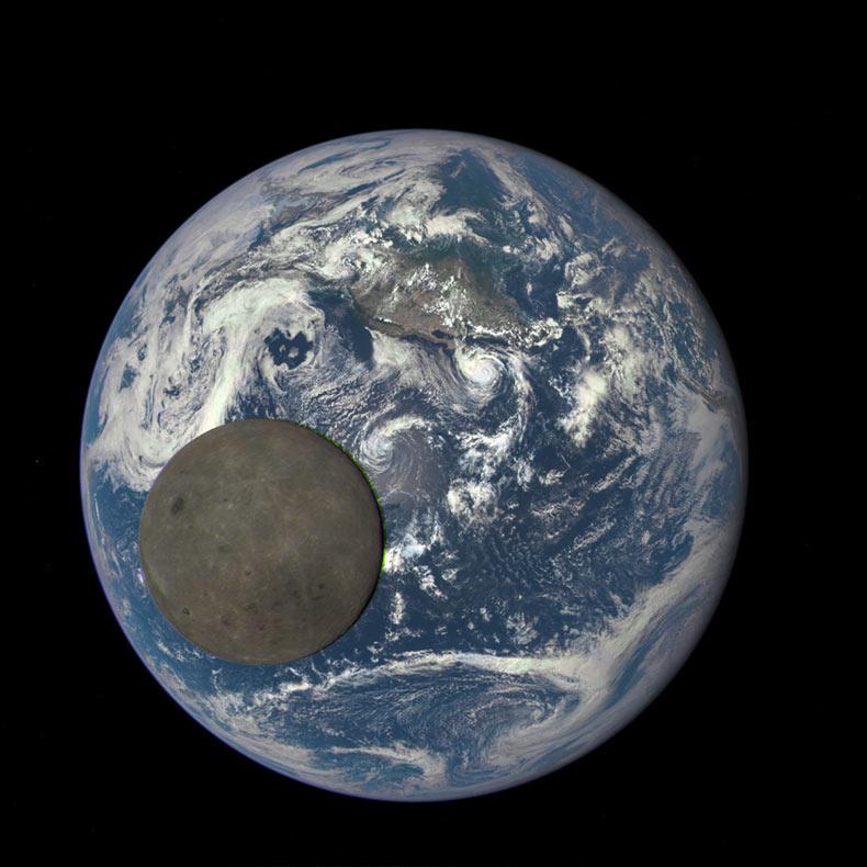NASA captura el lado oscuro de la Luna mientras cruza la Tierra