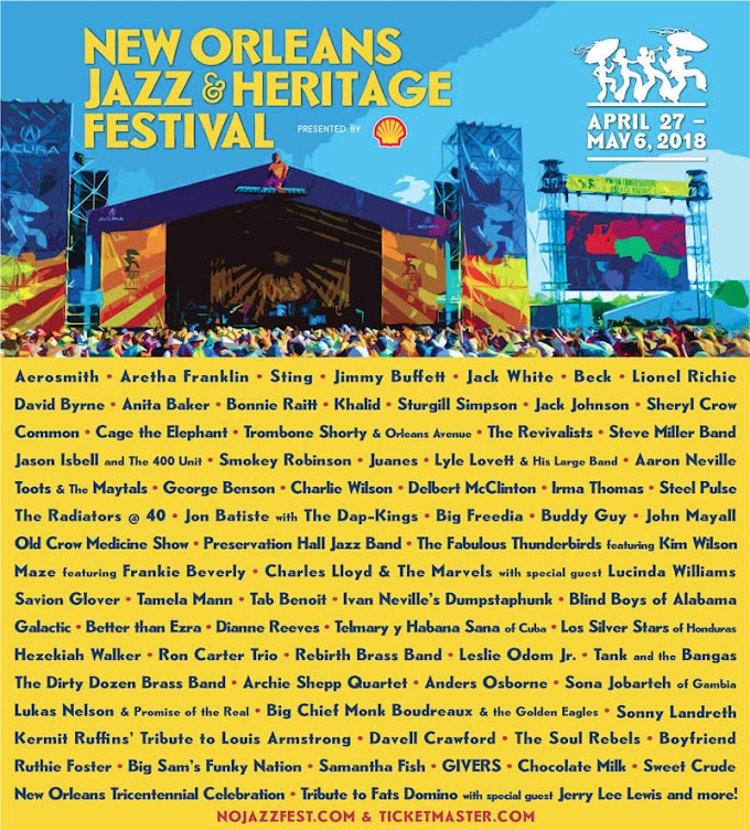 Download Digital Music From Artists at the 2018 New Orleans Jazz and Heritage Festival