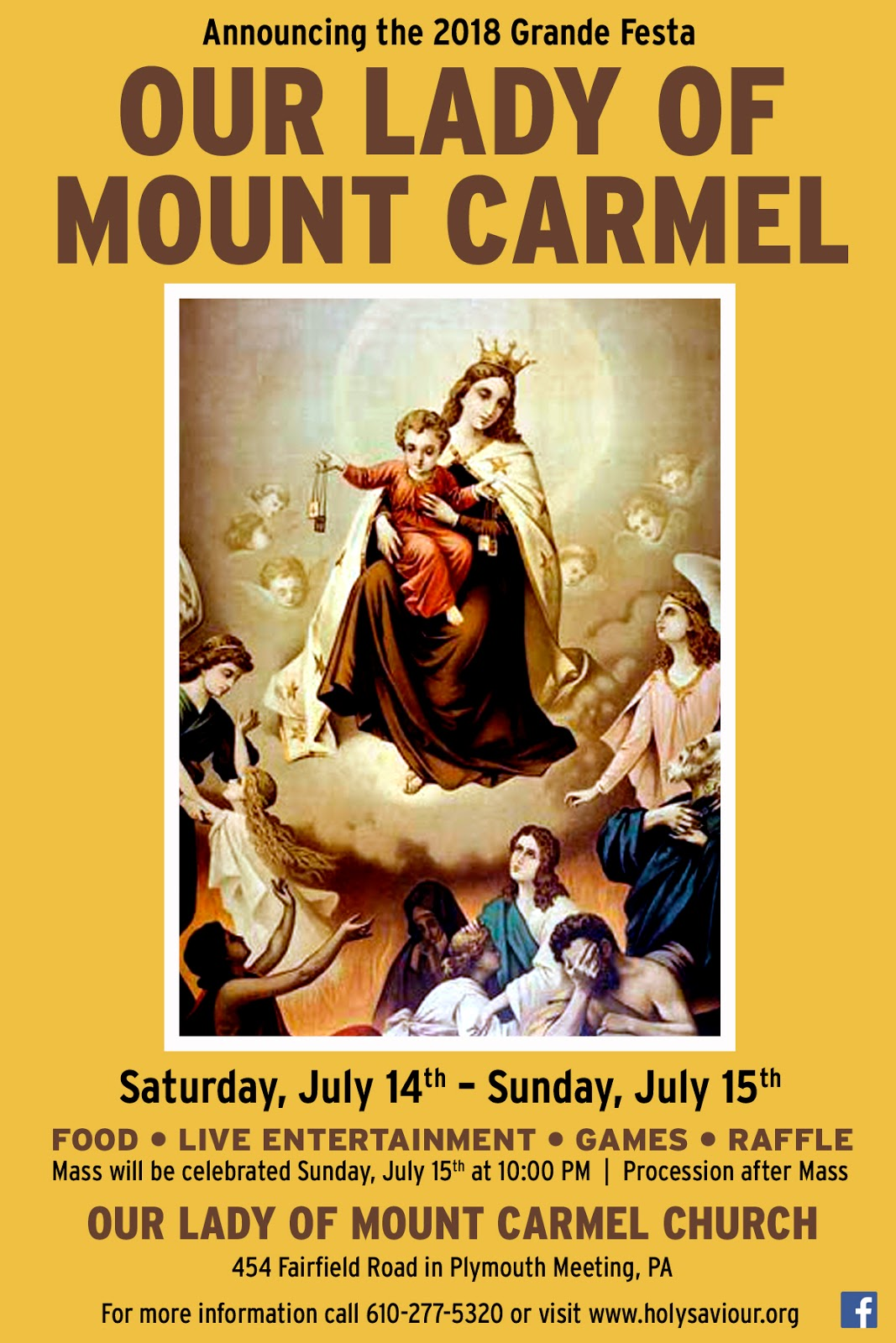Il Regno: Announcing the 2018 Feast of Our Lady of Mount ...
