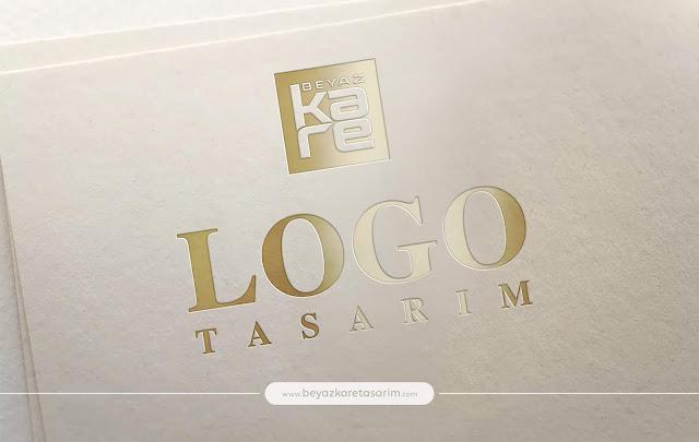 3D logo tasarımı kağıt gold lux