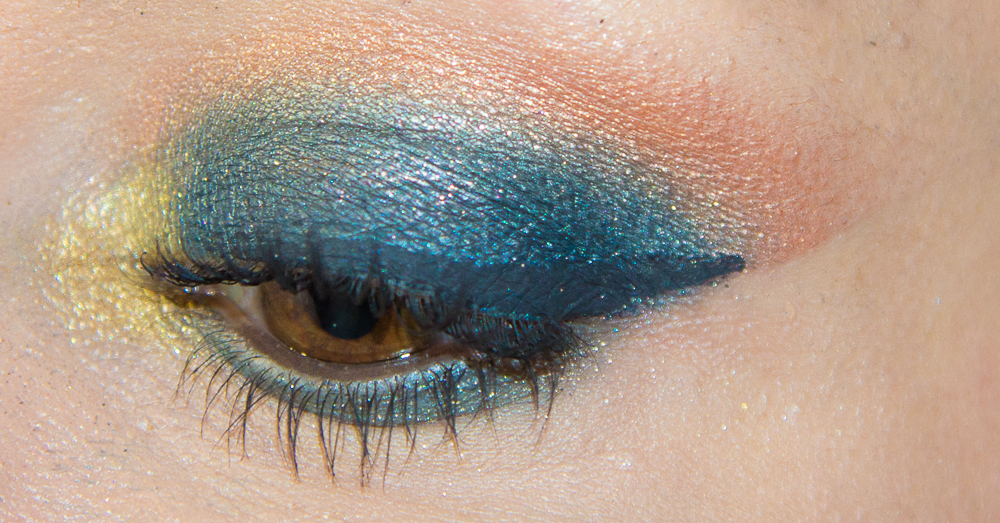 maquillage - bleu - orange - tutoriel
