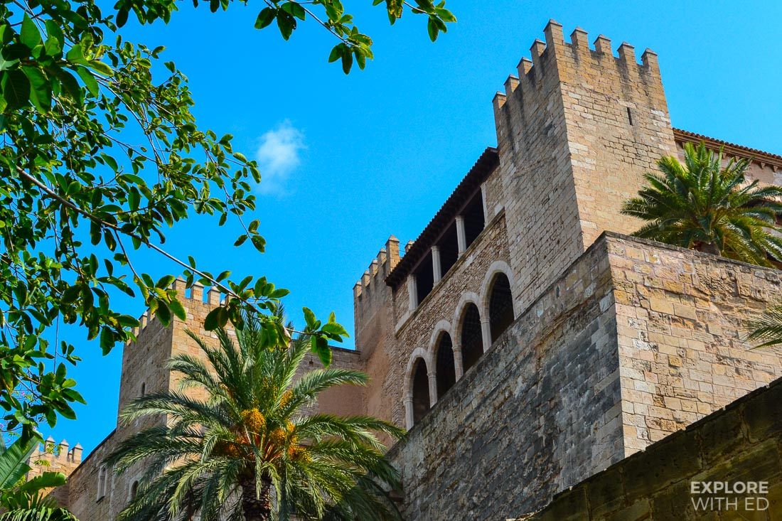 Royal castle in Palma de Mallorca near the Cathedral