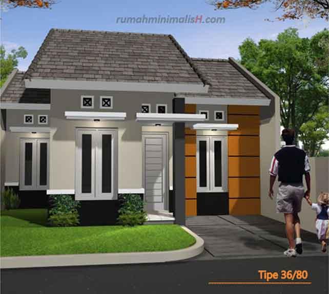 Contoh Gambar Rumah Minimalis Mungil Desain Rumah Sederhana & Gambar Rumah Minimalis Posisi Hook - Gambar Om