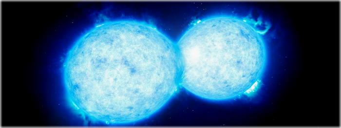 colisão de duas estrelas iluminará o céu