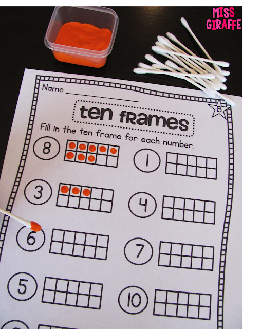 Painting numbers into ten frames