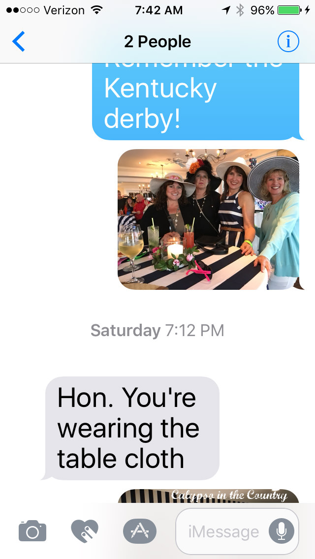 Silly Text from my husband