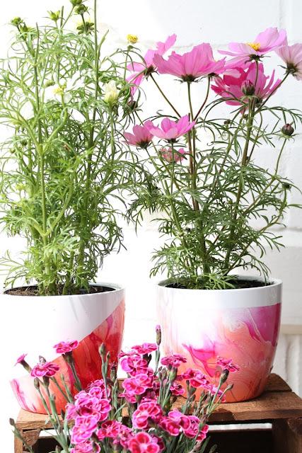 DIY Blumentoepfe Jules kleines Freudenhaus