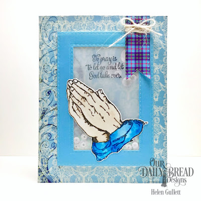 Our Daily Bread Designs Stamp Set: Handle With Prayer, Our Daily Bread Designs Custom Dies: Praying Hands,Double Stitched Pennant Flags, Double Stitched Rectangles, Our Daily Bread Designs Paper Collections:  Beautiful Boho, Pad Boho Bolds