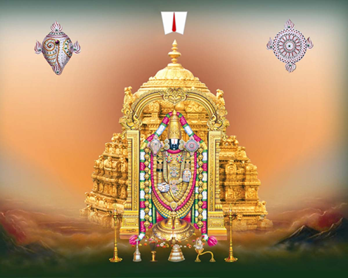 Download Lord Venkateswara Animated Wallpapers Gallery: Lord Balaji With Vaikuntam Temple Pictures Images Photos
