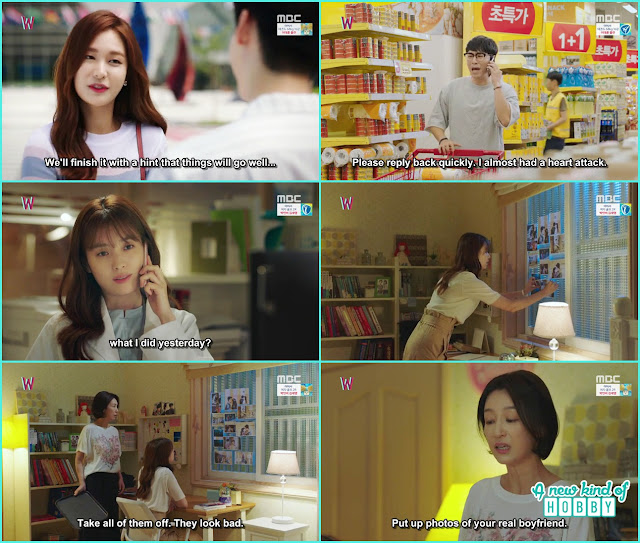 kang chul, soo he a happy ending , yeon jo cut the pictures of kang and her  from the webtoon book - W - Episode 9 Review