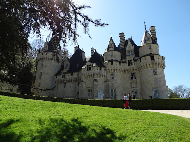 Chateau d'Usse in the Loire Valley from the grounds