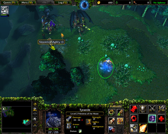 Daughters of the Moon Mission 29 | Slippers of Agility Screenshot | Warcraft 3: Reign of Chaos