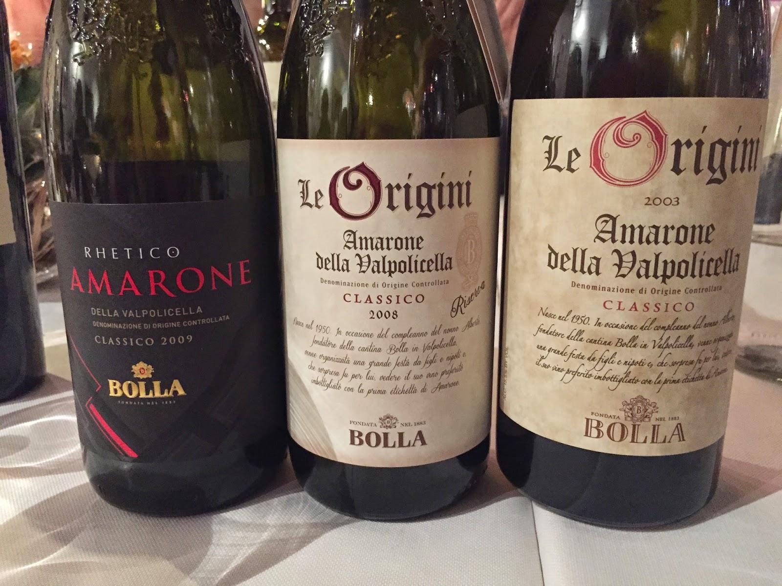 Bolla Rhetico and Le Origini Amarone della Valpolicella