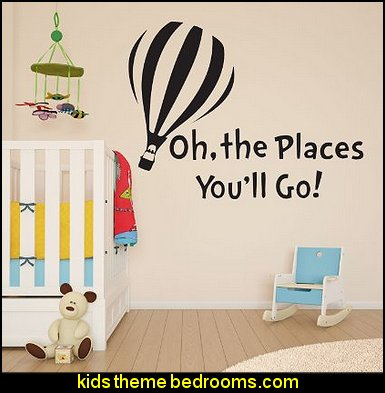 Dr Seuss The Places You'll Go Children's Girls Boys Wall Sticker Decal