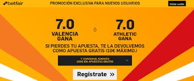 betfair Valencia o Athletic gana supercuota 7 Liga 28 febrero