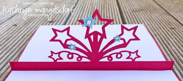 Stampin' Up! Birthday Blast & Star Blast Edgelit Dies, Birthday Card, Pop Up Card created by Kathryn Mangelsdorf
