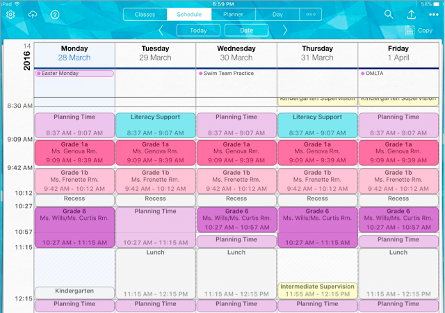 iDoceo 4 iPad App for Teachers - Planner