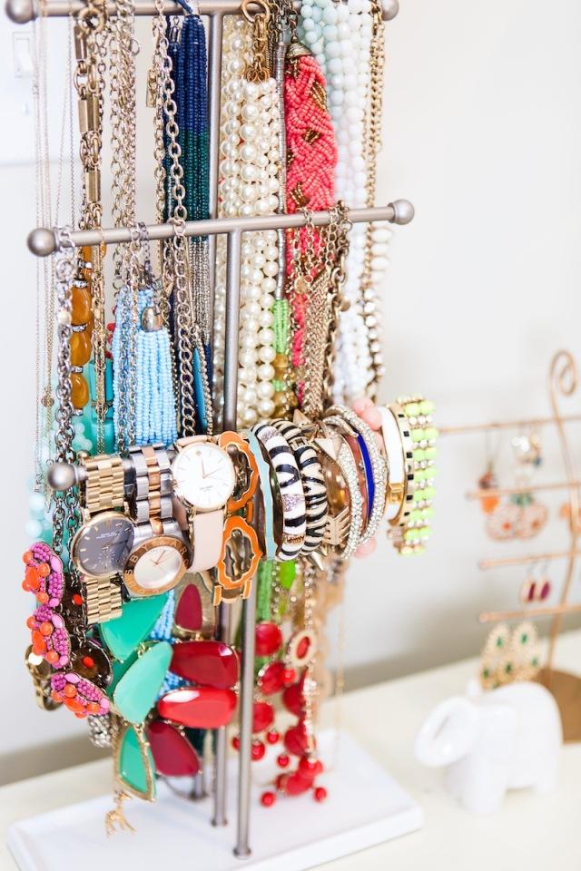 Cómo organizar collares y pulseras