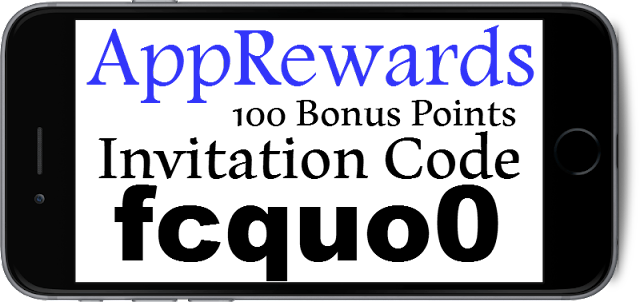 AppReward Invitation Code 100 Bonus Points, AppReward Promo Code, AppReward Sign Up Bonus 2021-2022