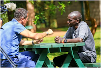 Popular CNN business journalist RICHARD QUEST hanging out with Marathon king Eliud Kipchoge in Nairobi (PHOTOs)