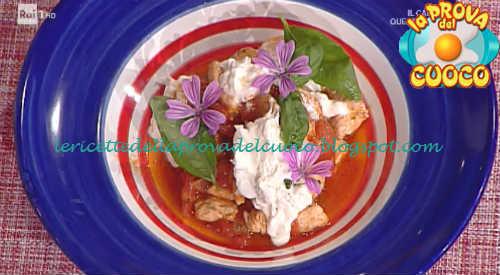 Bocconcini di tacchino al pomodoro e burrata ricetta Bongiovanni da Prova del Cuoco