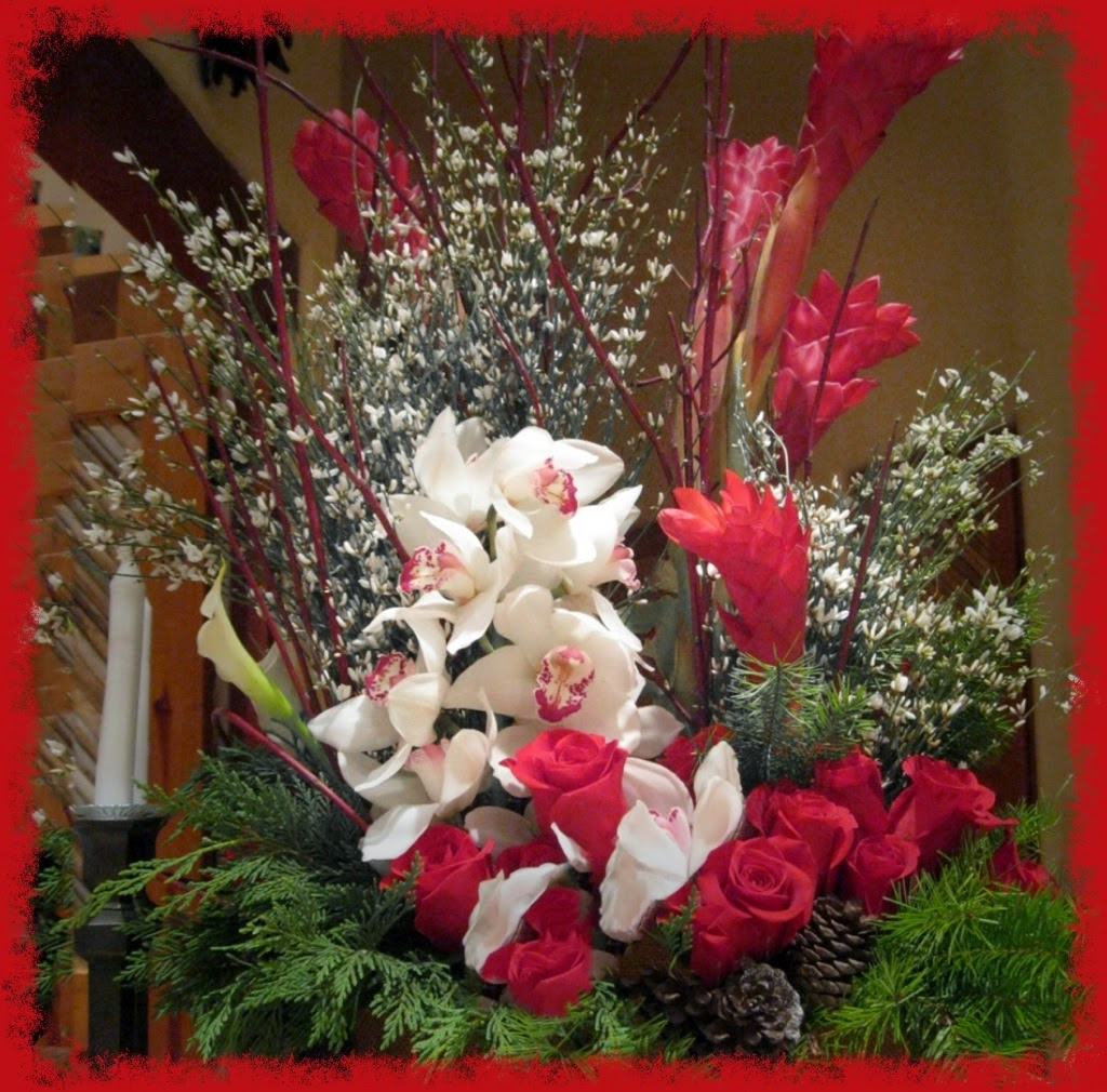 flower arrangement December 2013