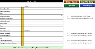 Aplikasi Pembuatan Raport Otomatis Format Baru