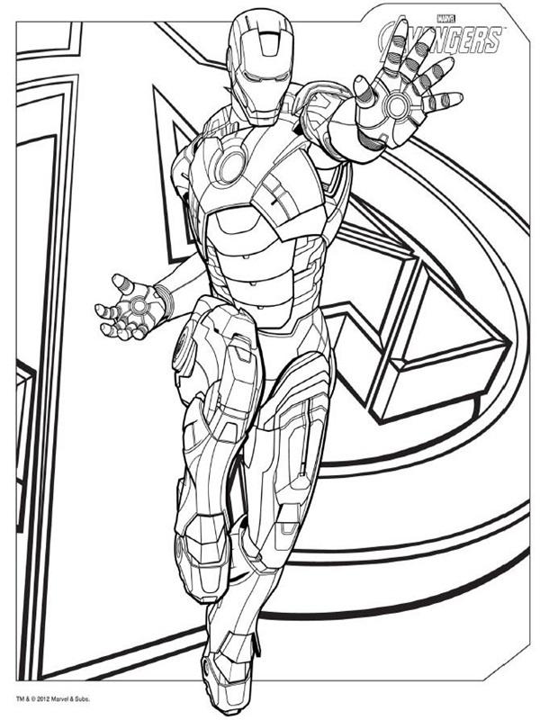 Desenhos Do Avengers Para Colorir
