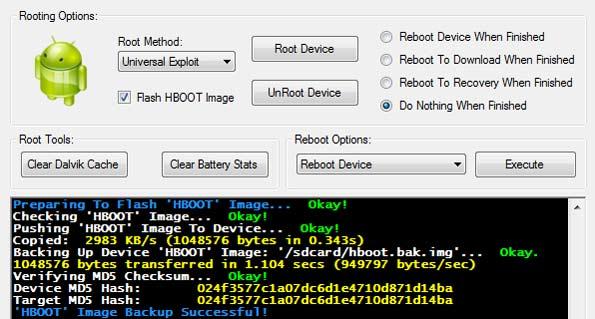 تطبيق HTC QUICK ROOT للحصول على صلاحية الروت للاندرويد بأستخدام الكمبيوتر