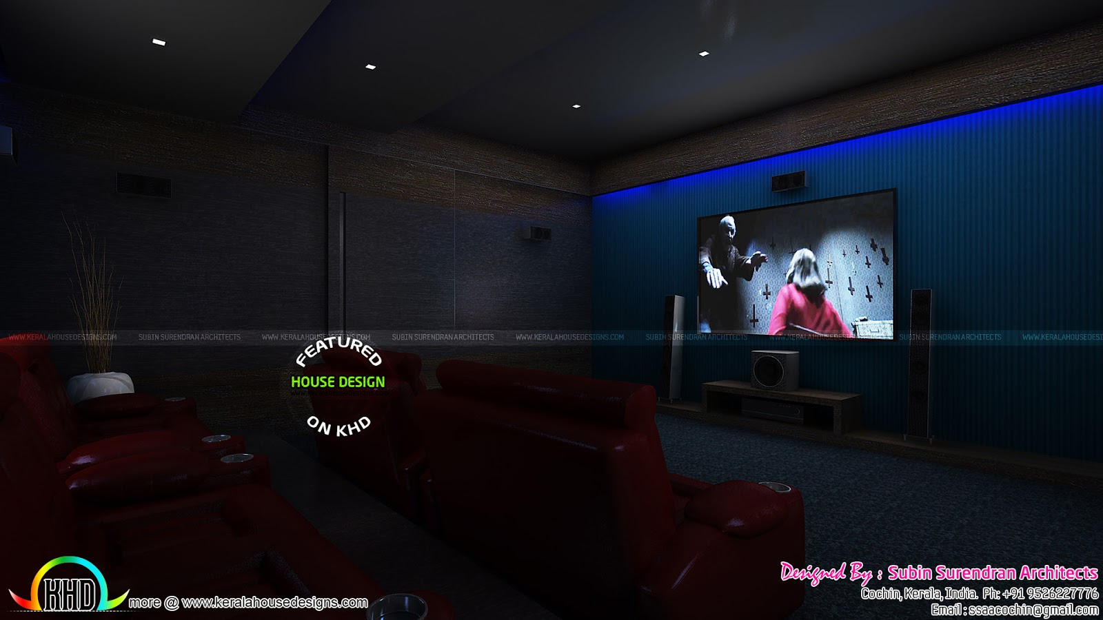 Master Bedrooms Dining Home Theater Interiors Kerala
