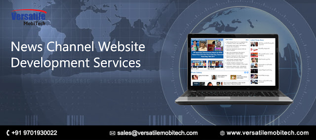 news channel website development services