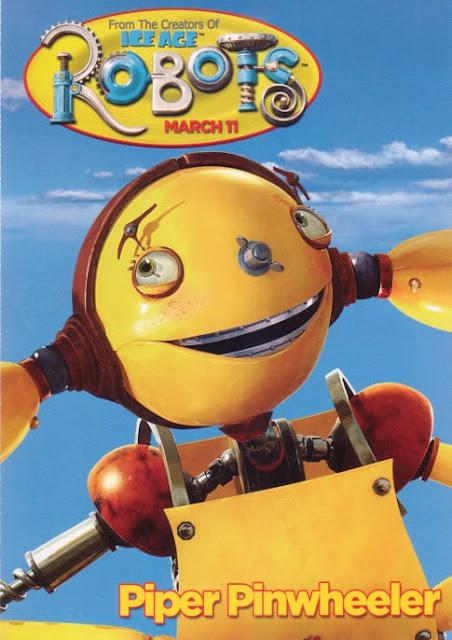 Imagen en 3D del cartel de la protagonista Piper de la película Robots