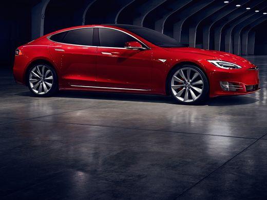 2016 New Look Model S luxury electric sedan  side view