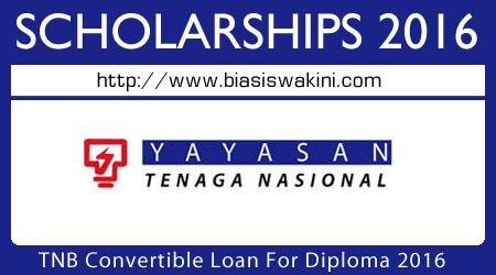 Tenaga Nasional Berhad Convertible Loan For Diploma 2016-Pinyaman Yayasan TNB