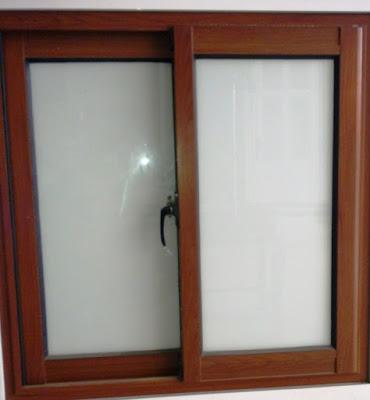 mẫu cửa sổ nhôm kính Việt Pháp giả gỗ