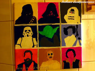 Badezimmer Pop-Art Star Wars