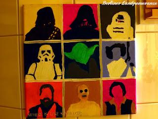 Badezimmer Pop-Art Star Wars