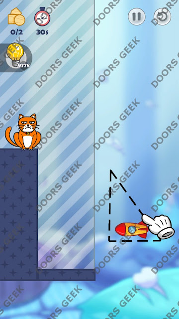 Hello Cats Level 153 Solution, Cheats, Walkthrough 3 Stars for Android and iOS
