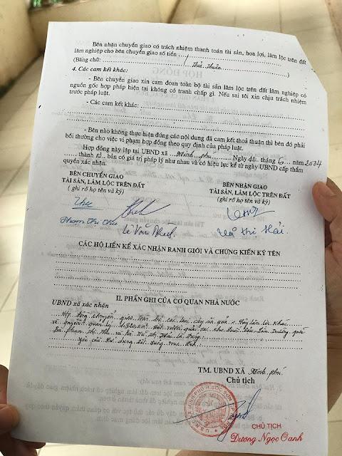 Chữ ký xác nhận của chính quyền địa phương