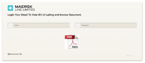 Maerskline Shipping BL Phishing Virus Scam - Maersk invoice tracking