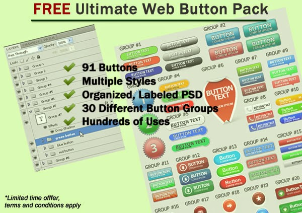 Ultimate Web Button Pack