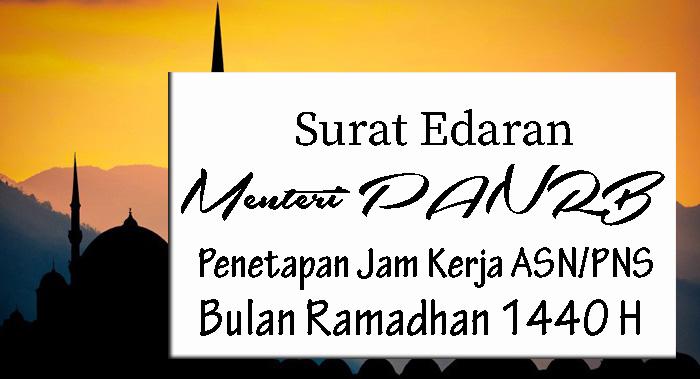 Penetapan Jam Kerja ASN/PNS Bulan Ramadhan